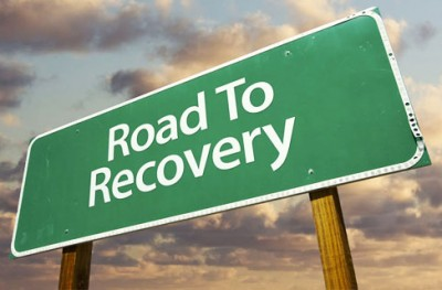 roadtorecovery - green sign