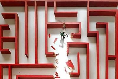 Shortcut - breaking through red maze