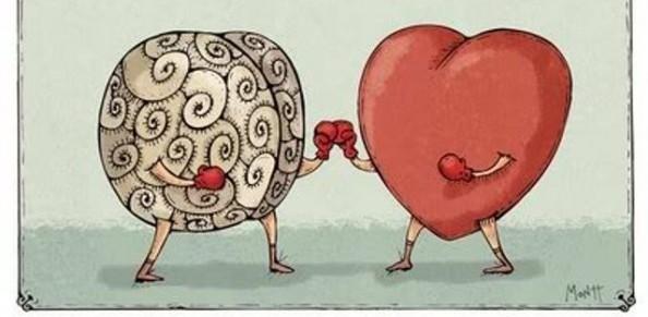 reasoning mind 2 - illustration brain boxing heart