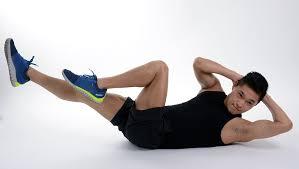 man doing abdominal exercises