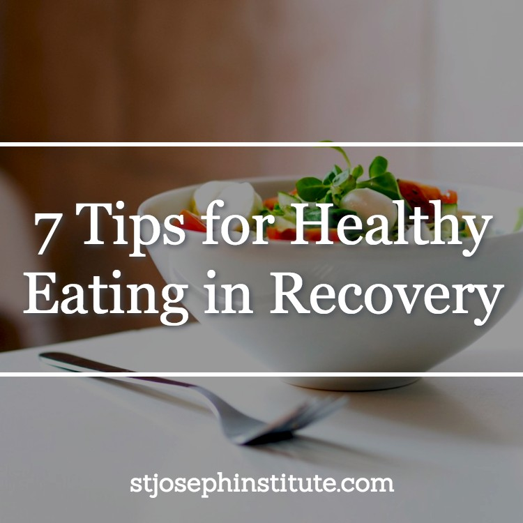 bowl of salad - 7 tips for healthy eating in recovery