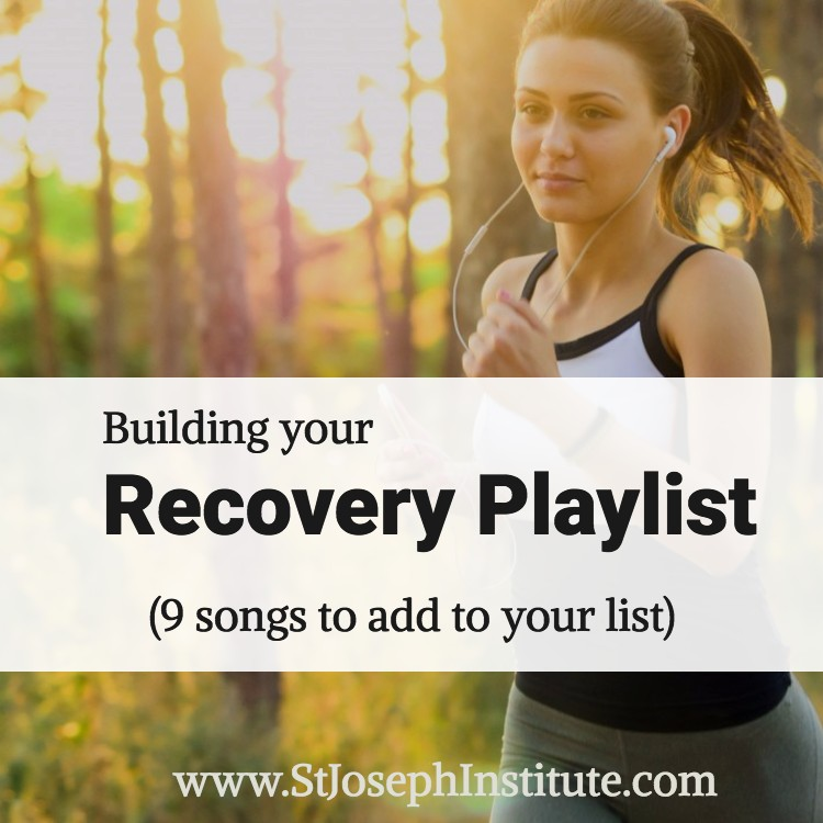woman with headphones jogging - How to build a recovery playlist