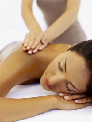 woman getting massage - massage therapy