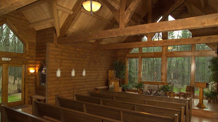 Chapel interior - St. Joseph Institute for Addiction in Port Matilda, Pennslyvania