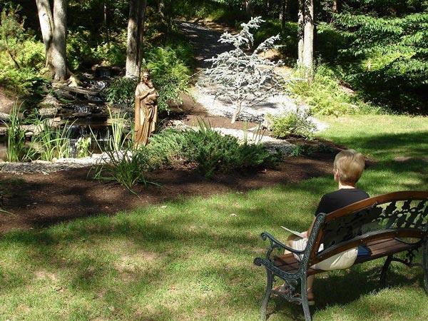Meditation at the Waterfall - St. Joseph Institute - PA drug rehab