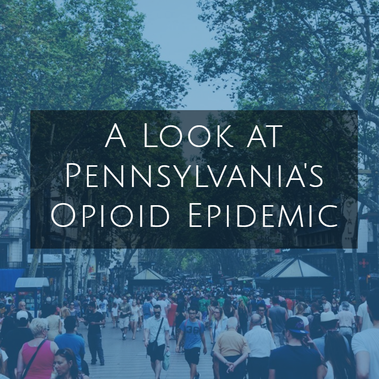 crowd of people walking outdoors - A Look at Pennsylvania's Opioid Epidemic