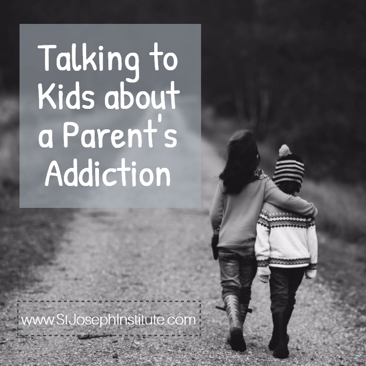 small children walking on path - black and white - Talking to kids about a parent's addiction