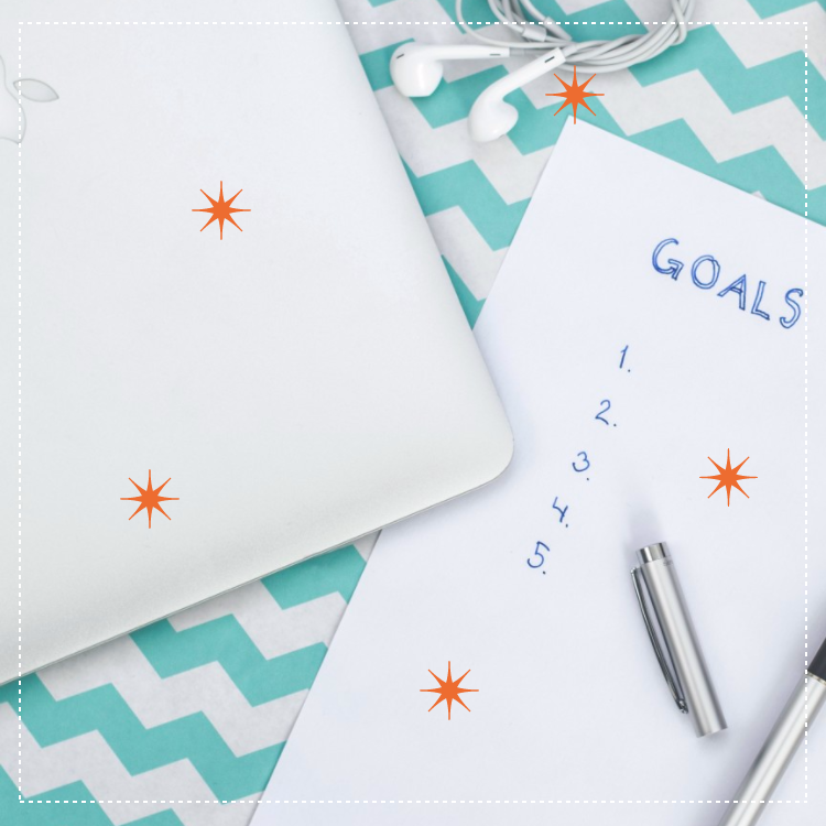 paper with list of goals - Goals for the New Year