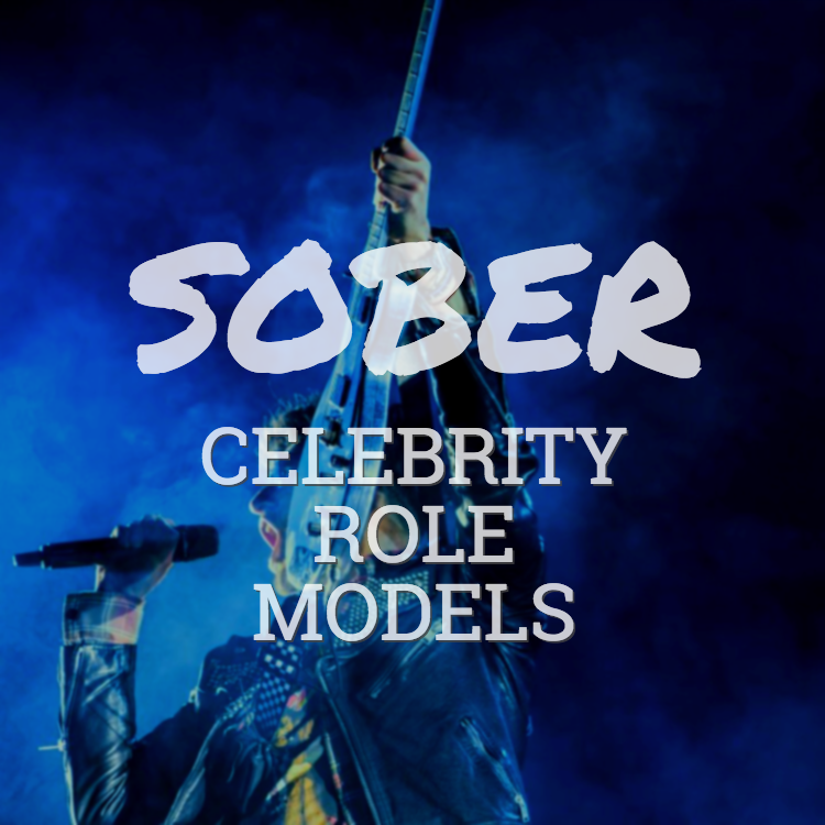 musician on stage - sober celebrity role models