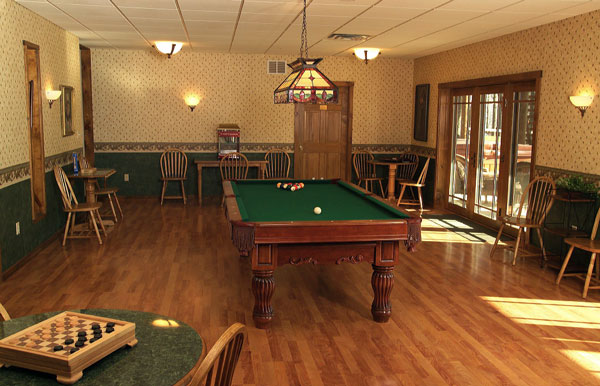 Gameroom at St. Joseph Institute for addiction in PA