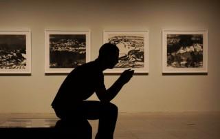 Man in museum