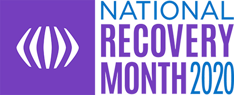 National Recovery Month 2020 graphic - recovery is possible