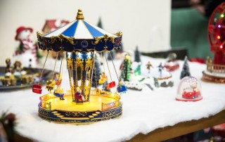 Christmas or holiday decorations - scene with merry-go-round - the holidays