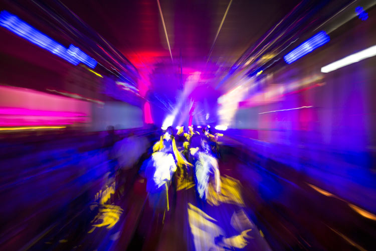 bright lights, blurred - inside of night club or rave - club drugs