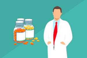 Doctor and Pill Bottles - Suboxone