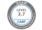 ASAM Level 3.7 certification by CARF